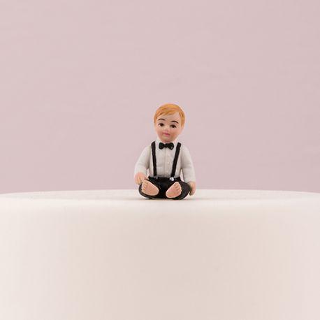 figurine gateau mariage avec bebe