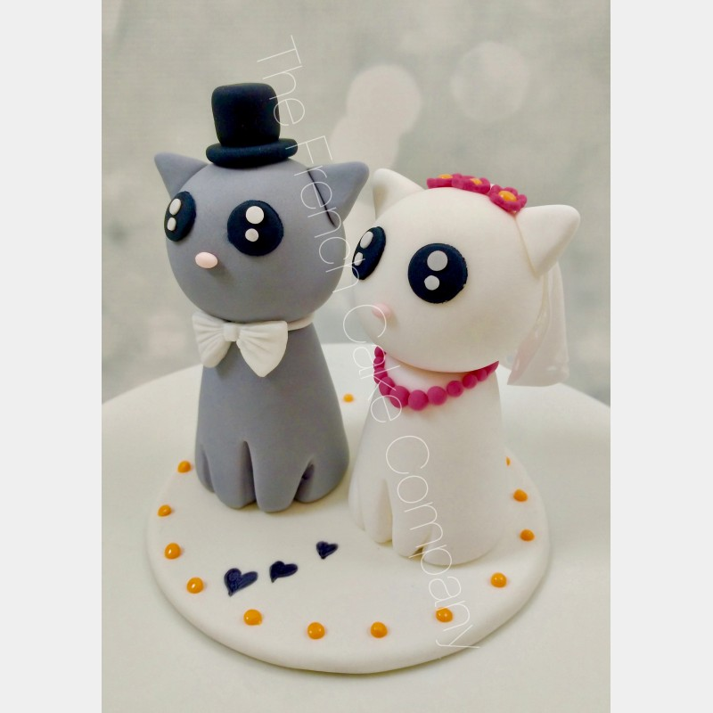 figurine gateau mariage avec chat