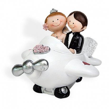 figurine gateau mariage avion