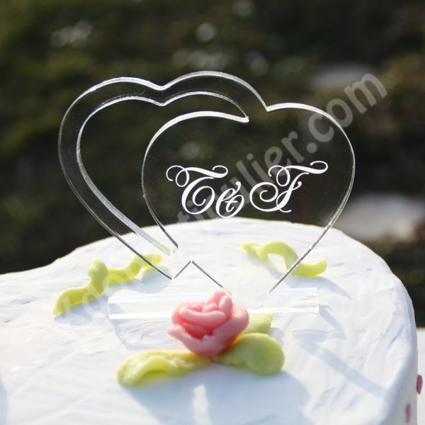 figurine gateau mariage coeur