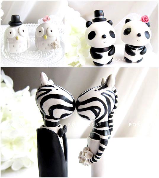 figurine gateau mariage design