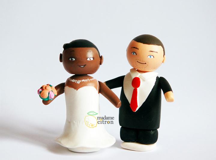 figurine gateau mariage diy