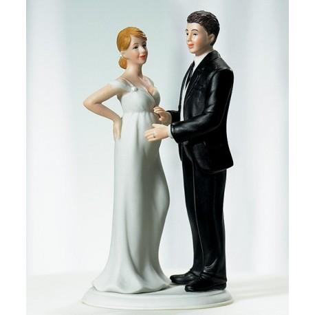 figurine gateau mariage enceinte