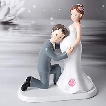 figurine gateau mariage femme enceinte