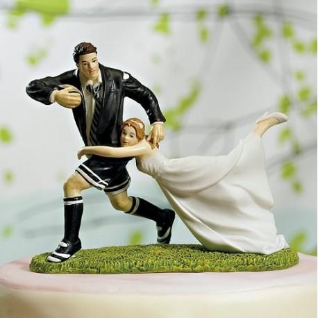 figurine gateau mariage foot