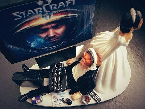 figurine gateau mariage geek