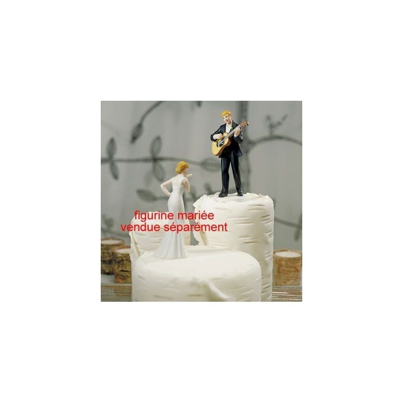 figurine gateau mariage guitare