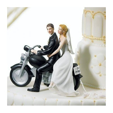 figurine gateau mariage metal