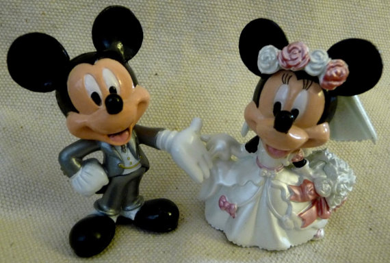 figurine gateau mariage mickey