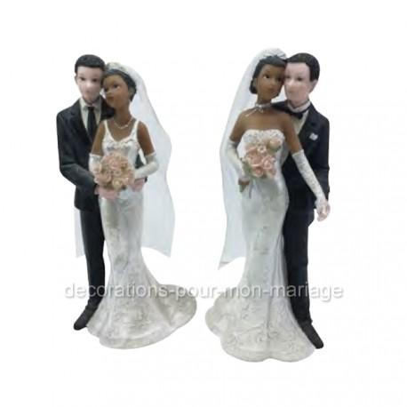 figurine gateau mariage mixte