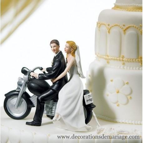 figurine gateau mariage moto