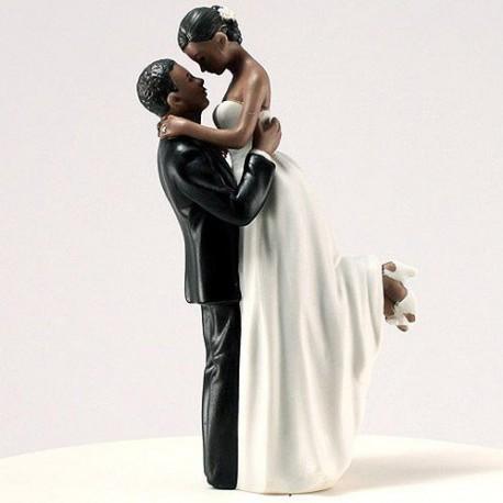 figurine gateau mariage noir