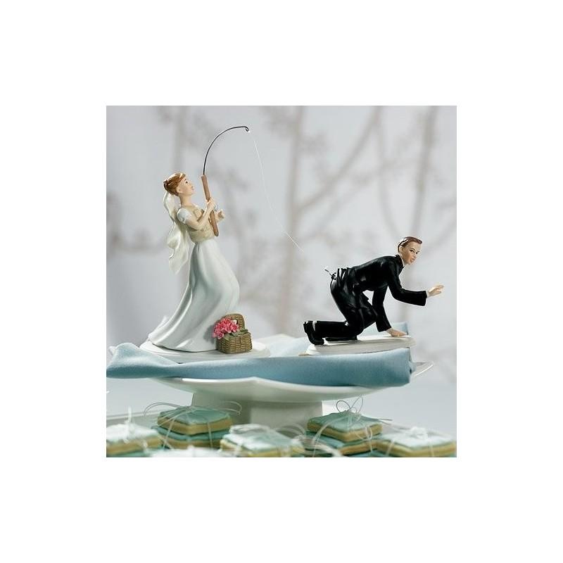 figurine gateau mariage peche
