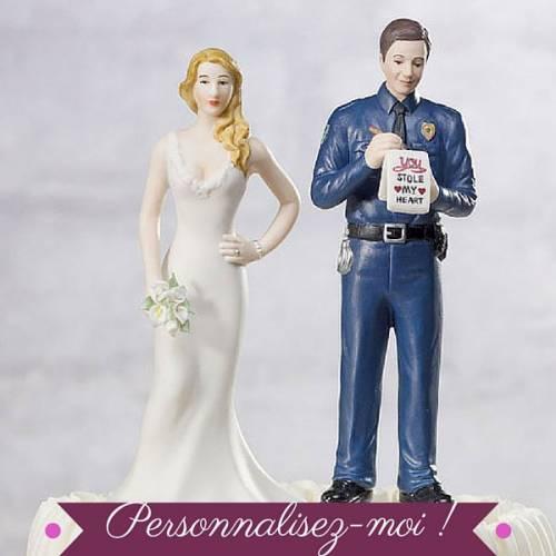 figurine gateau mariage personnalise pas cher