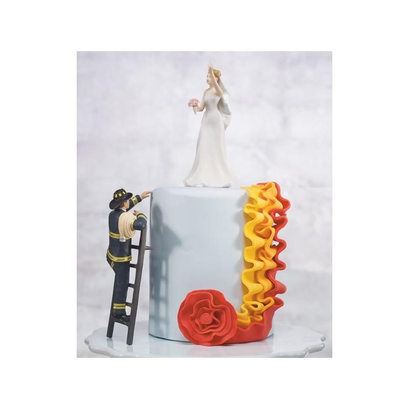 figurine gateau mariage pompier