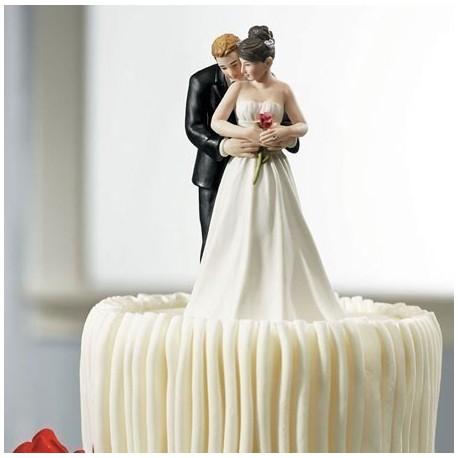 figurine gateau mariage romantique