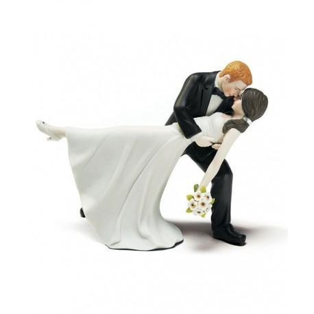 figurine gateau mariage roux