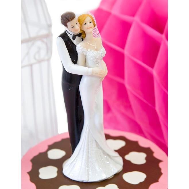 figurine gateau mariage selfie