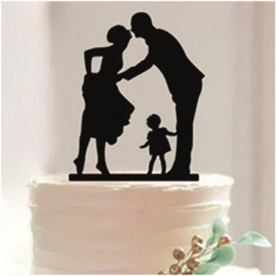 figurine gateau mariage silhouette