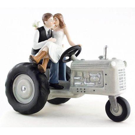 figurine gateau mariage tracteur