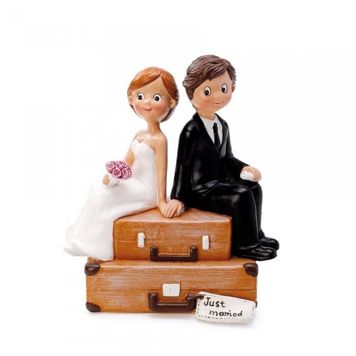 figurine gateau mariage valise