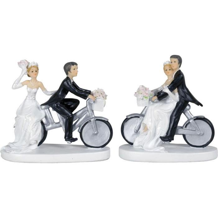 figurine gateau mariage velo