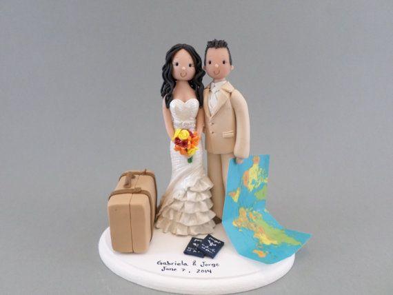 figurine gateau mariage voyage