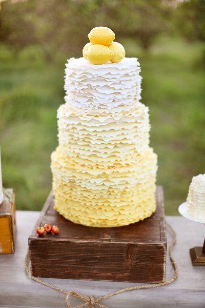 gateau mariage citron