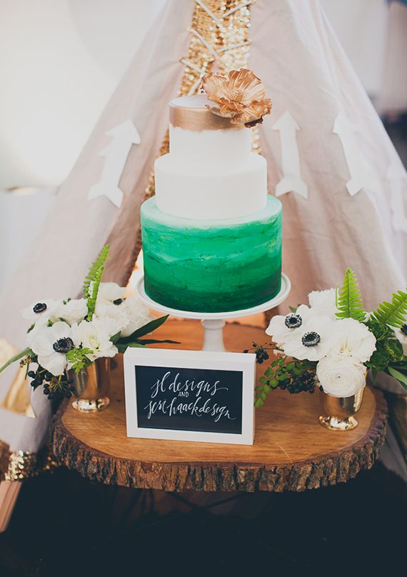 gateau mariage emeraude