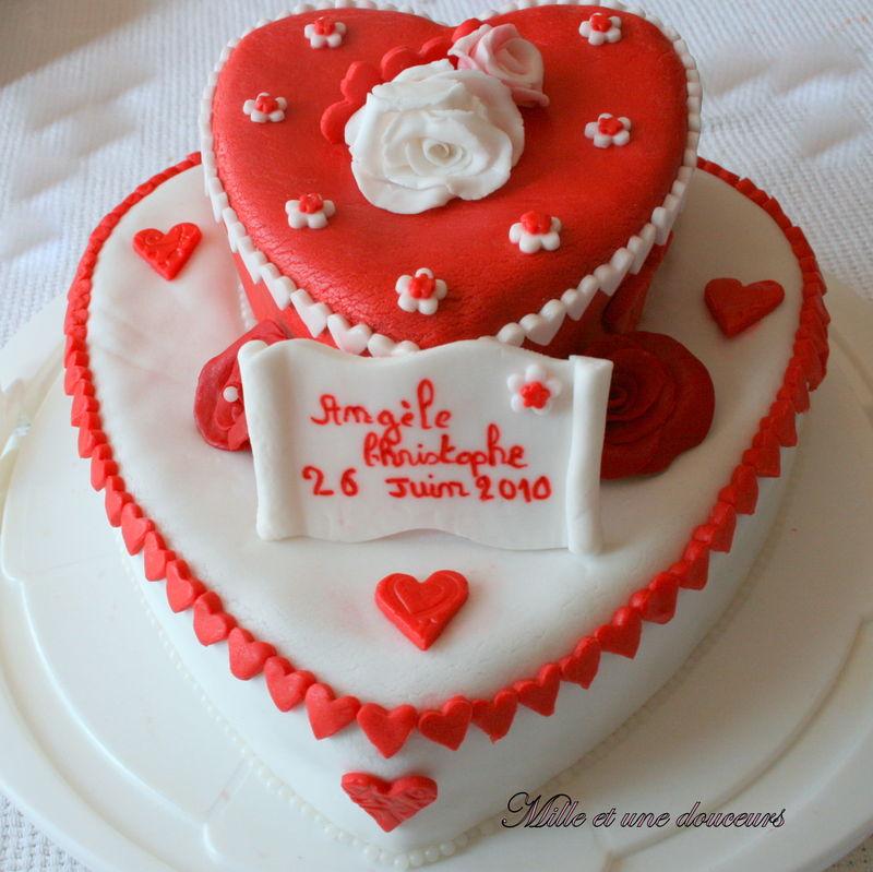 gateau mariage en coeur