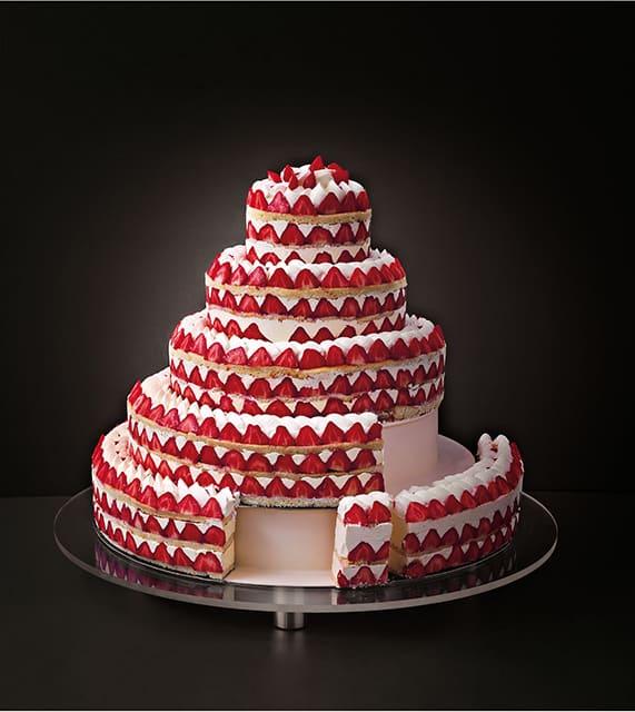 gateau mariage fraisier