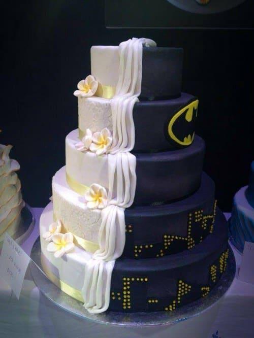 gateau mariage geek