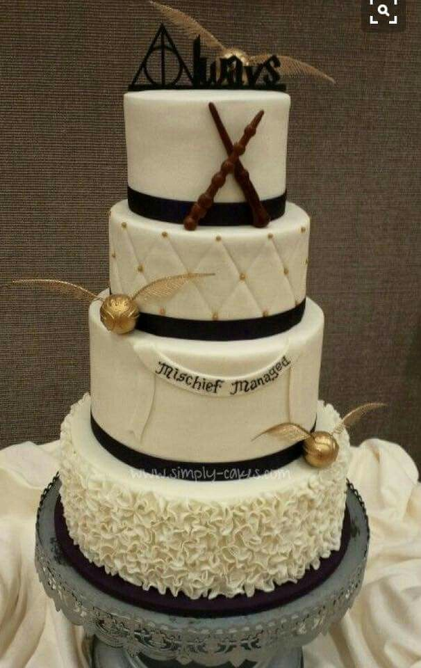 gateau mariage harry potter