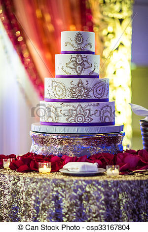 gateau mariage indien