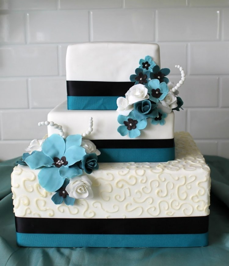 gateau mariage rectangle