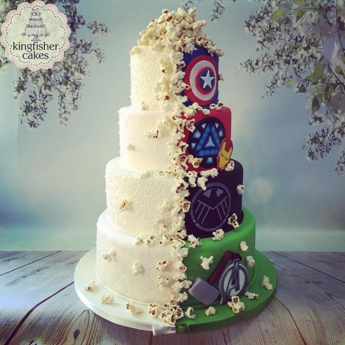 gateau mariage super heros
