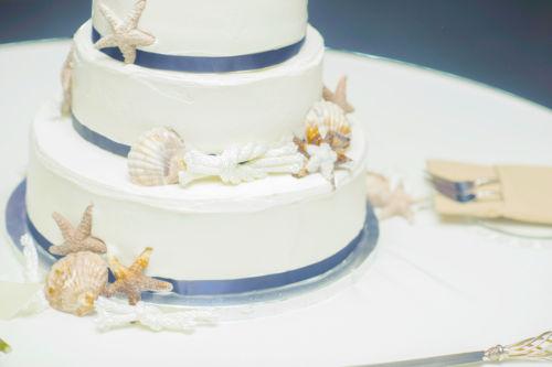 gateau mariage theme mer