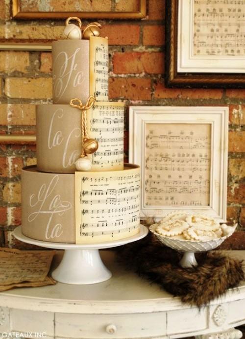 gateau mariage theme musique