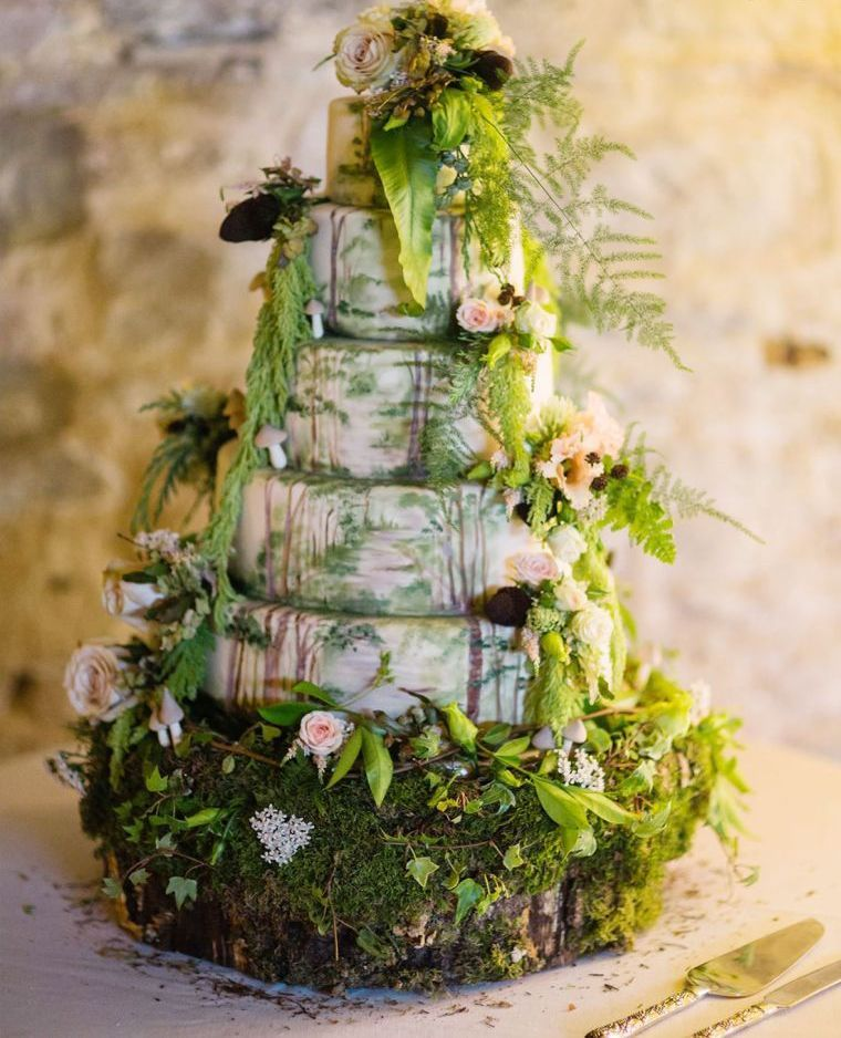 Gateau mariage theme nature - Le specialiste des desserts