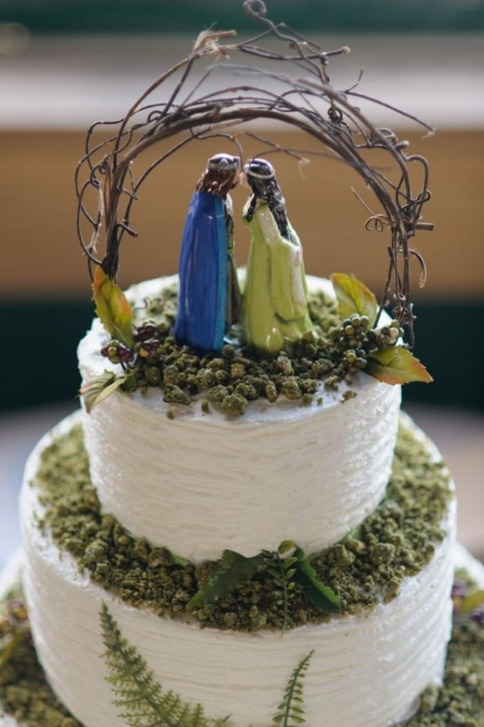 gateau mariage theme nature