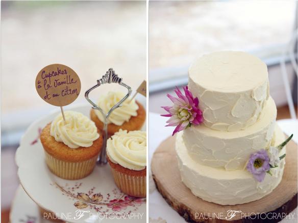 gateau mariage vanille