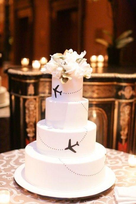 gateau mariage voyage